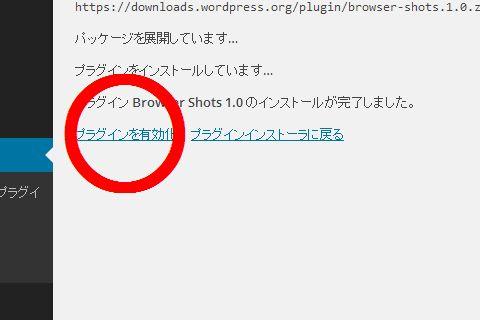 WordPressプラグイン Browser Shots プラグイン有効化