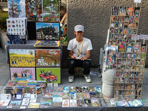 京都アートフリーマーケット イラストレーター