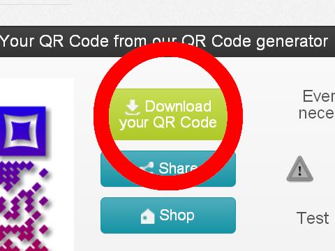 QR Code generator Unitag QRコードダウンロード