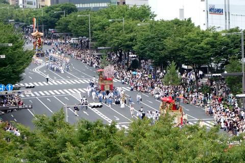 祇園祭後祭 山鉾巡行 最後尾