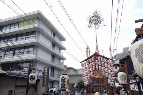祇園祭後祭 北観音山 屋根上の松