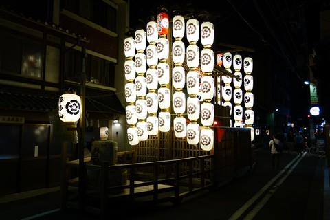 祇園祭後祭 夜の宵山 浄妙山