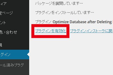 WordPressプラグイン Optimize Database after Deleting Revisions プラグインを有効化