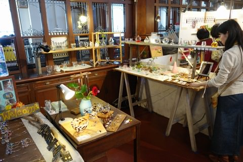 京都アートフリーマーケット 京都文化博物館 ガラス・アクセサリー