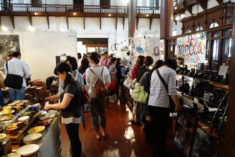 京都アートフリーマーケット 京都文化博物館別館内