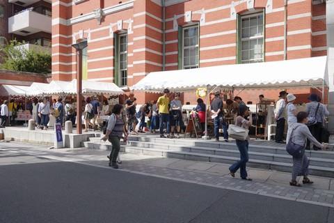 京都アートフリーマーケット 京都文化博物館外デッキ