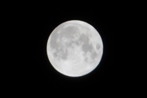 皆既月食の満月