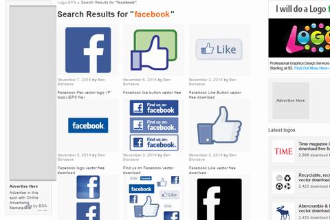 ロゴデータ 検索結果 facebook