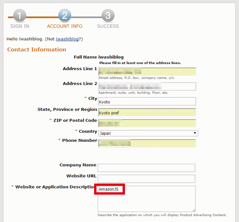 amazon Product Advertising API contact information