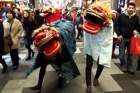 寺町京極商店街 獅子舞