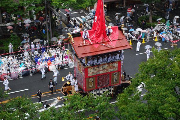 2015雨の祇園祭前祭 山鉾巡行 函谷鉾