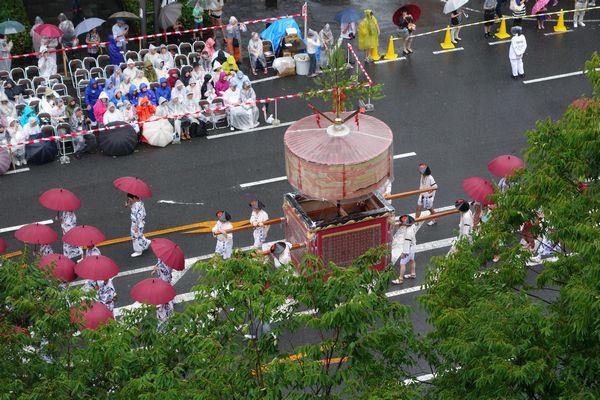 2015雨の祇園祭前祭 山鉾巡行 四条傘鉾
