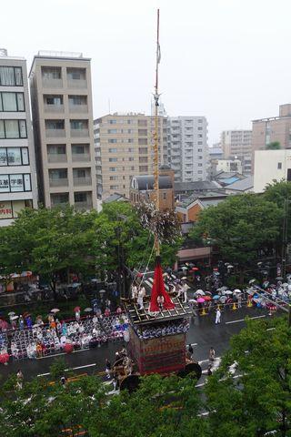 2015雨の祇園祭前祭 山鉾巡行 月鉾