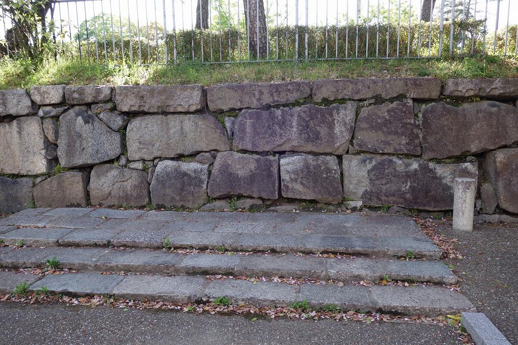 堀川 二条城の石垣