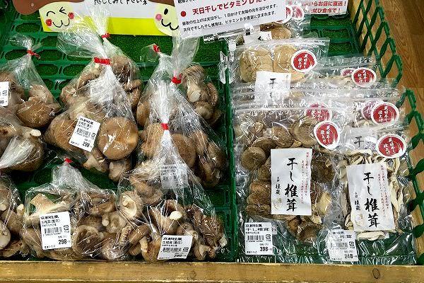 京都 桂嵐の干し椎茸 販売中