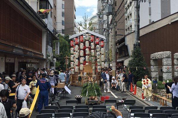 祇園祭 役行者山 護摩焚き開始前