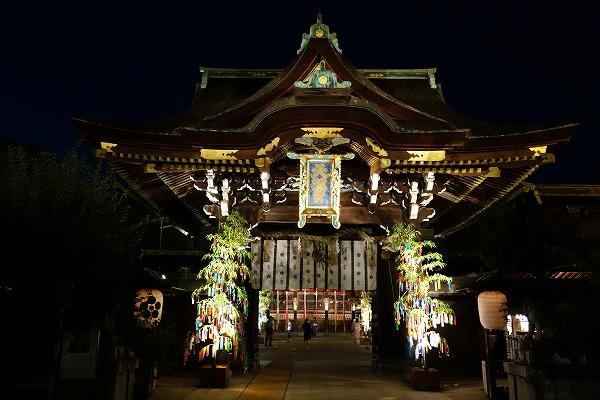 京の七夕 北野天満宮ライトアップ