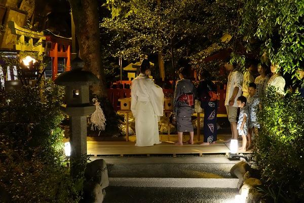 京の七夕 北野天満宮 足つけ灯明神事