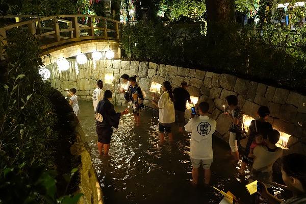 京の七夕 御手洗川 足つけ灯明神事
