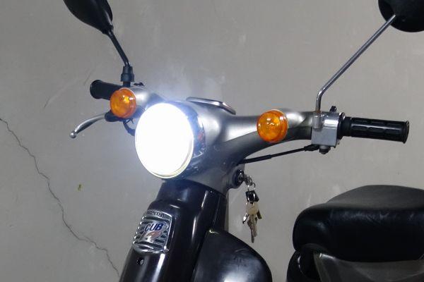 ホンダ カブのヘッドライトをLEDライトに交換する
