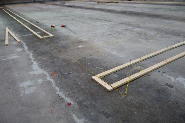 しいたけ栽培設備 コンクリート枠