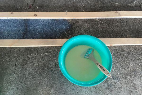 しいたけ栽培設備 コンクリート用プライマー塗布