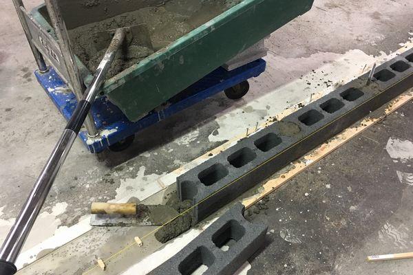 しいたけ栽培設備 ブロック積み
