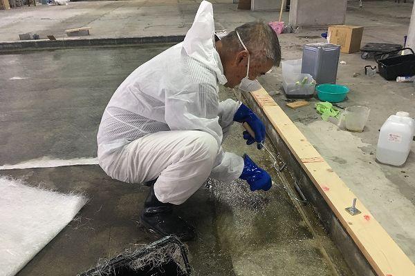 しいたけ栽培設備 FRP防水 脱泡