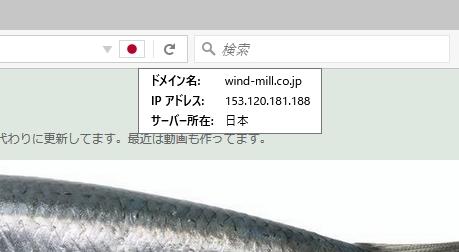 Flagfox IPアドレス表示