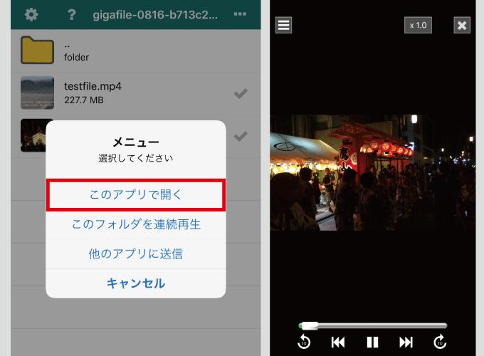 EasyZip 動画再生