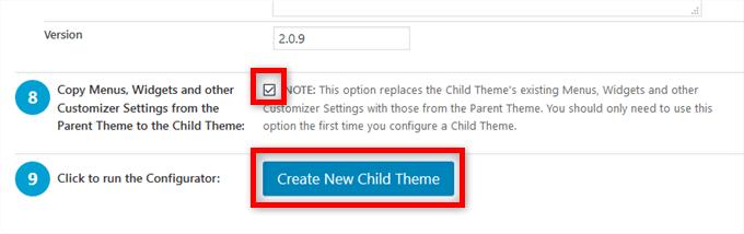 Child Theme Configurator 子テーマ作成
