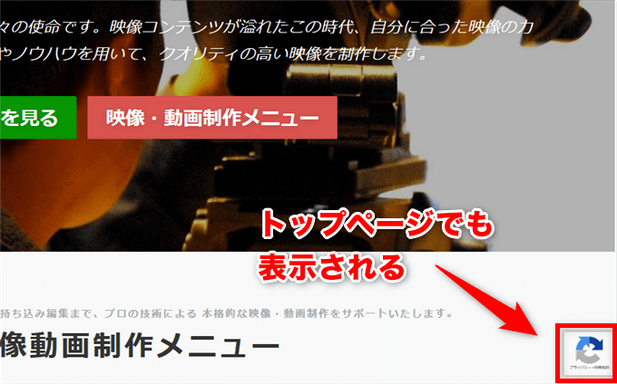 reCAPTCHA バッヂ
