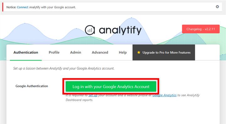Analytify Googleアナリティクスと連携