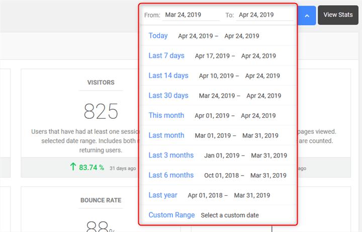 Analytify データ期間変更