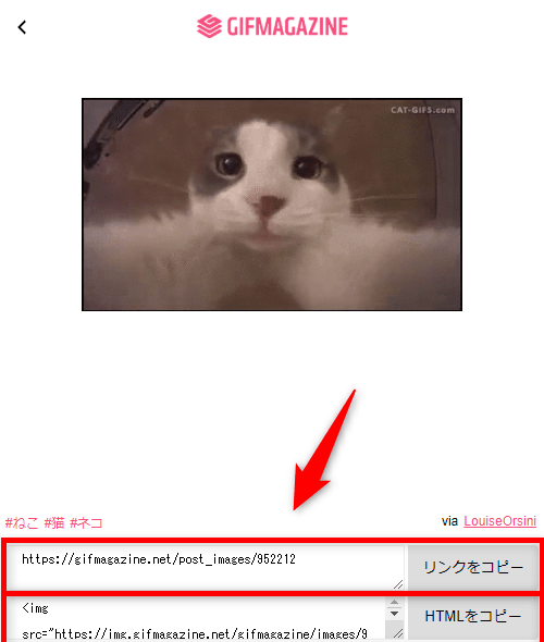 GIFMAGAZINE for Chrome HTMLコード取得