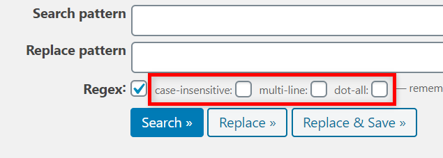 Search Regex 正規表現