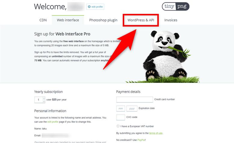 Compress JPEG & PNG images WordPress & API